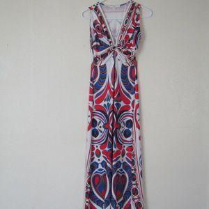 Boston Proper 70s Inspired Maxi Dress, S